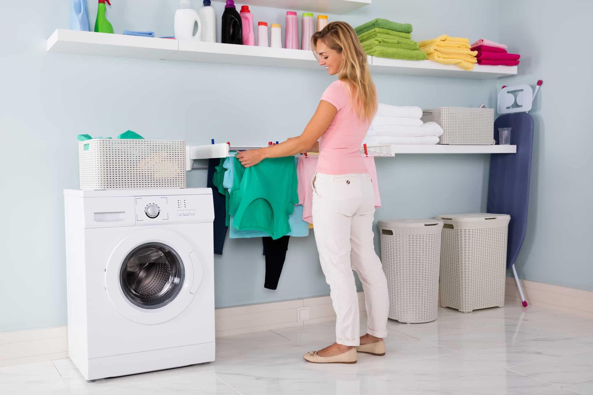 Wärmepumpentrockner in de Waschküche Gestaltung und Ideen